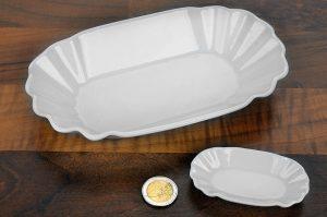Porzellan Schalen in Pappschalen-Optik